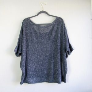 Athleta Sweaters - Athleta navy cashmere blend mesh dolman sweater